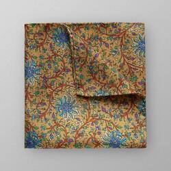 Eton Floral Pattern Pocket Square Pochet Donker Geel