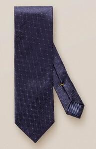 Eton Floral Silk Contrast Tie Midnight Blue