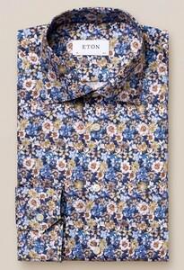 Eton Flower Signature Twill Overhemd Blauw