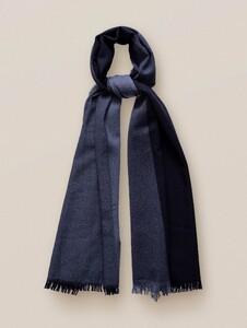Eton Fringed Wool Sjaal Blauw
