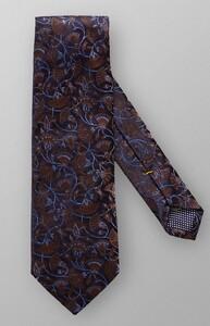 Eton Full Flower Pattern Tie Dark Blue-Brown