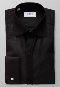 Eton Glitter Evening Shirt Overhemd Zwart Melange
