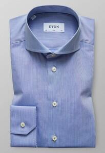 Eton Herringbone Extreme Cutaway Shirt Blue