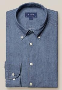 Eton Italian Denim Twill Overhemd Licht Blauw