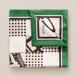 Eton Jazz Square Pochet Donker Groen