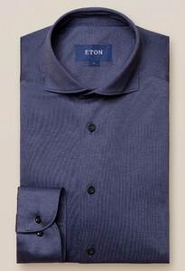 Eton Jersey Uni Overhemd Donker Blauw