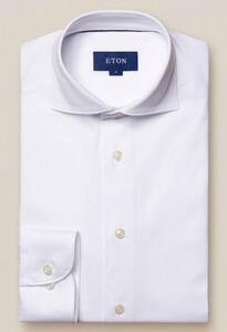 Eton Jersey Uni Overhemd Wit