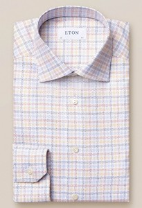 Eton King Twill Multi Plaid Overhemd Multicolor