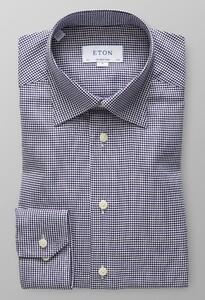 Eton King Twill Overhemd Dark Navy