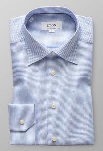 Eton King Twill Overhemd Sky Blue