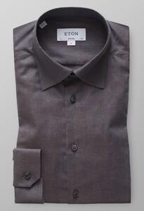Eton Lightweight Flannel Button Under Overhemd Midden Grijs