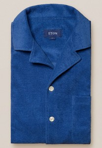 Eton Limited Edition Terry Cloth Shirt Overhemd Blauw