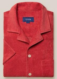 Eton Limited Edition Terry Cloth Shirt Overhemd Rood