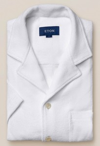 Eton Limited Edition Terry Cloth Shirt Overhemd Wit