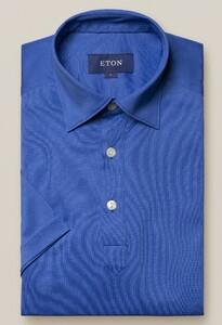 Eton Luxury Mercericed Poloshirt Polo Midden Blauw