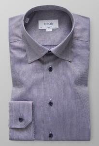 Eton Melange Oxford Shirt Dark Navy