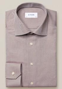 Eton Mélange Signature Twill Overhemd Beige
