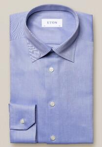 Eton Mélange Signature Twill Shirt Blue