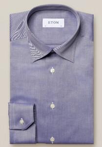 Eton Mélange Signature Twill Shirt Dark Navy