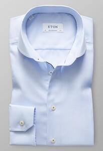 Eton Micro Weave Twill Overhemd Avond Blauw