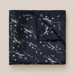 Eton Mini Birds Pattern Pochet Dark Navy