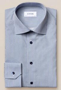 Eton Mini Fantasy Pattern Overhemd Blauw