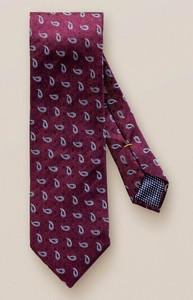Eton Mini Paisley Silk Tie Burgundy-Light Blue