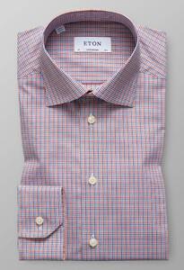 Eton Multi Check Overhemd Multicolor