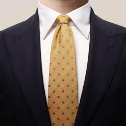 Eton Multi Dotted Silk Tie Fine Orange