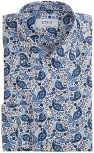 Eton Multi Paisley Fantasy Overhemd Blauw