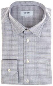 Eton Multicolor Twill Check Overhemd Multicolor