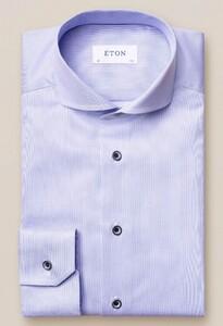 Eton Navy Piping Pastel Overhemd Licht Blauw