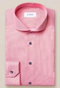 Eton Navy Piping Pastel Overhemd Pastel Rood