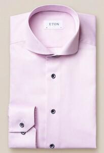 Eton Navy Piping Pastel Overhemd Roze