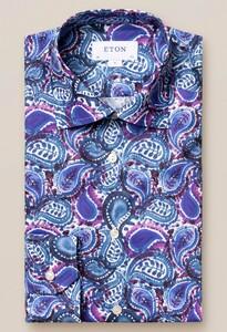 Eton Painted Paisley Overhemd Teal