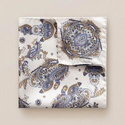 Eton Paisley Detail Pochet Off White