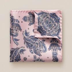 Eton Paisley Detail Pochet Roze