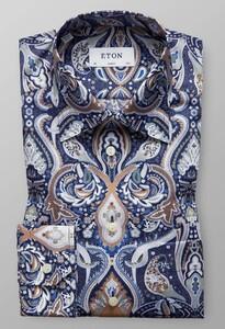 Eton Paisley Fantasy Overhemd Blauw