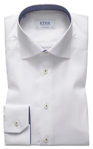 Eton Panda Print Detail Shirt Shirt White