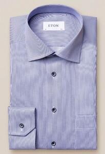 Eton Pastel Classic Signature Twill Overhemd Dark Navy