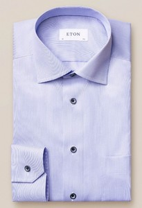 Eton Pastel Classic Signature Twill Overhemd Licht Blauw