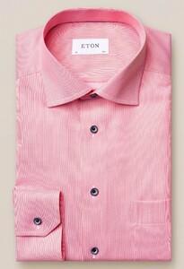 Eton Pastel Classic Signature Twill Overhemd Pastel Rood