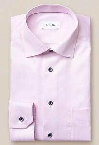 Eton Pastel Classic Signature Twill Overhemd Roze