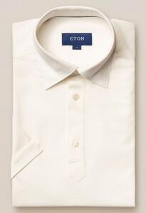 Eton Piqué Polo Polo Wit