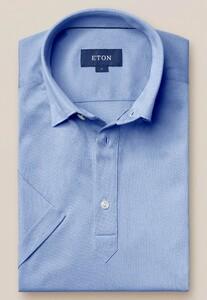 Eton Piqué Poloshirt Polo Licht Blauw