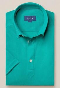 Eton Piqué Poloshirt Polo Licht Groen Melange
