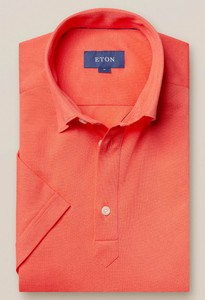 Eton Piqué Poloshirt Polo Licht Roze