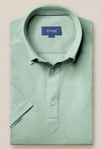 Eton Piqué Poloshirt Polo Pastel Groen