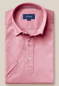 Eton Piqué Poloshirt Polo Roze