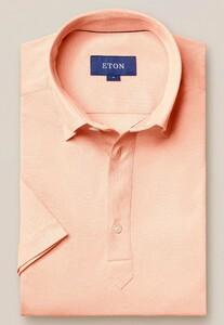 Eton Piqué Poloshirt Polo Roze-Oranje